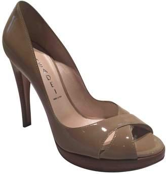 Casadei Khaki Patent leather Heels