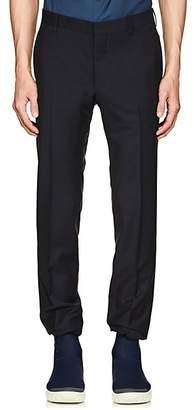 Prada Men's Plain-Weave Wool-Mohair Slim Trousers - Navy