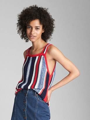 Gap Crochet Mix-Stripe Tank Top