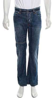 Couture Billionaire Italian Distressed Straight-Leg Jeans