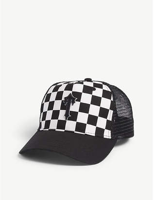 Trapstar Checkered mesh snapback cap