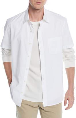 Vince Men's Poplin Short-Sleeve Sport Shirt