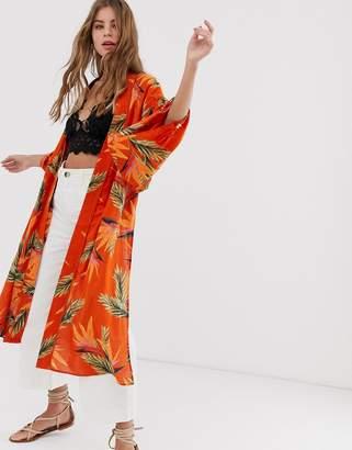 Free People Read My Palm print kimono jacket