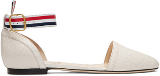 Thom Browne Off-White D'Orsay Ballerina Flats $990 thestylecure.com