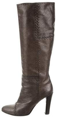 Fendi Metallic High-Heel Boots