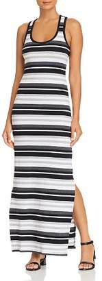 Andrew Marc Striped Racerback Maxi Dress