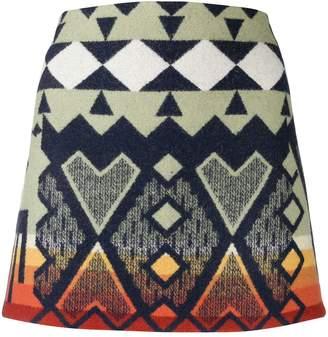 Jessie Western Aztec print mini skirt