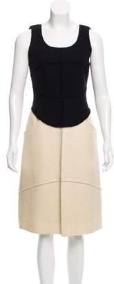 Chanel Two-Tone Wool Dress