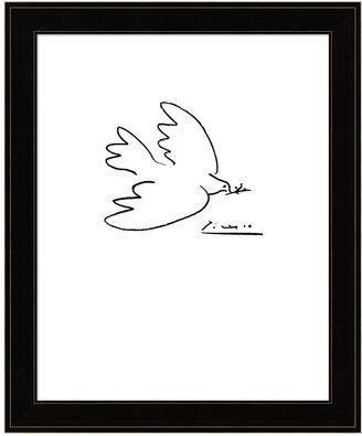 Metaverse Art Dove Of Peace by Pablo Picasso Framed Wall Art