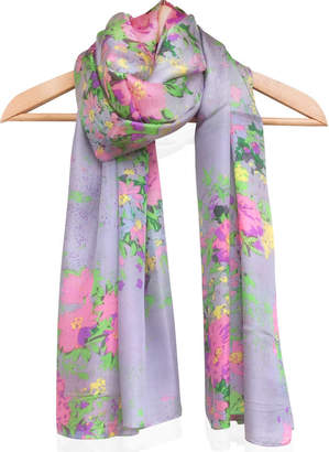 Silk Square Scarf - roses pink by VIDA VIDA twviL
