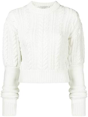 Philosophy di Lorenzo Serafini cable knit cropped jumper