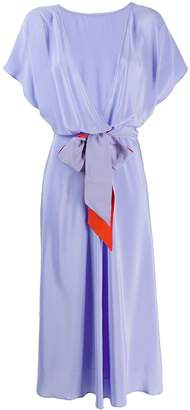 Indress short-sleeve flared dress