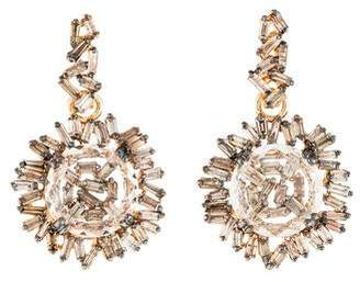 Suzanne Kalan 18K Topaz & Diamond Drop Earrings