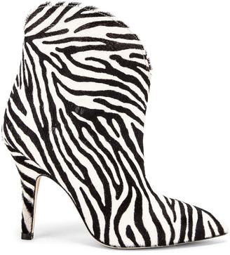 Paris Texas Pony Ankle Boot in Zebra | FWRD