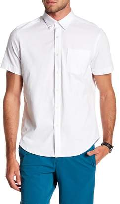 Perry Ellis Oxford Knit Button Down Tee