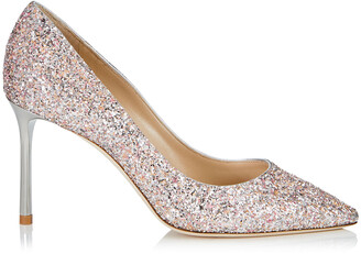 Jimmy Choo ROMY 85 Viola Mix Speckled Glitter Pointy Toe Pumps