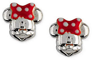 Disney Sterling Silver Mickey or Minnie Mouse Stud Earrings $22 thestylecure.com