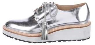 Loeffler Randall Metallic Leather Oxfords