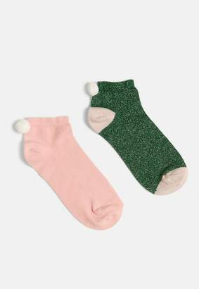 Missguided 2 Pack Elf Approved Xmas Socks