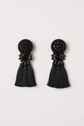 H&M Earrings with Tassels - Black - Women