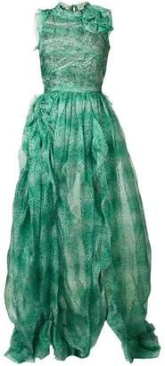 Ermanno Scervino floral evening dress