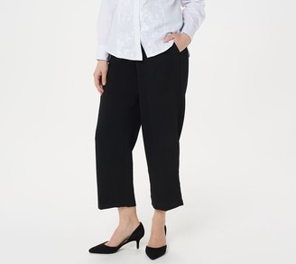 Linea By Louis Dell'olio by Louis Dell'Olio Petite Zip-Front Crop Pants