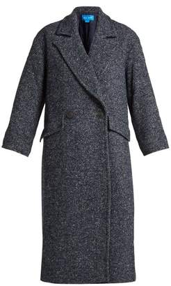 MiH Jeans Stamp Double Breasted Tweed Coat - Womens - Navy