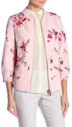 Ted Baker Bird & Blossom Spring Bomber Jacket