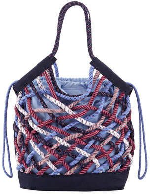 Tory Sport Woven Rope Tote Bag