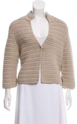 Akris Long Sleeve Knit Cardigan