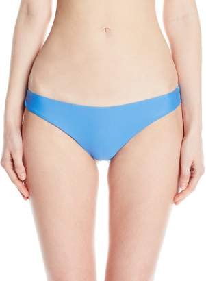RVCA Women's Solid Low-Rise Cheeky Swimsuit Bikini Bottom