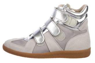 Maison Margiela Metallic High-Top Sneakers