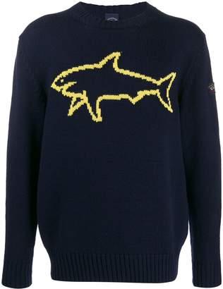 Paul & Shark Shark emblem jumper