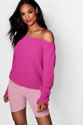 boohoo Off The Shoulder Slouchy Jumper