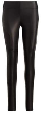 Ralph Lauren Leather-Front Stretch Legging Polo Black S