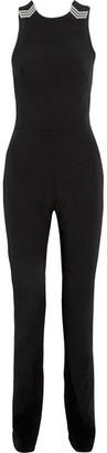 Mugler - Open-back Embellished Crepe Jumpsuit - Black $2,495 thestylecure.com
