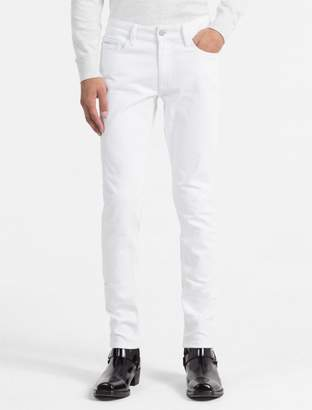 Calvin Klein slim straight white jeans