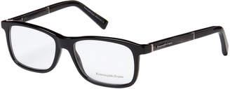 Ermenegildo Zegna EZ5013 Black Rectangle Optical Frames