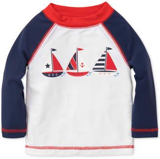 Little Me Sailboats Rash Guard, Baby Boys