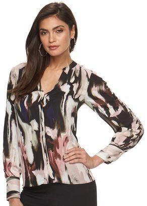 Women's Jennifer Lopez Lace-Up Blouse $60 thestylecure.com