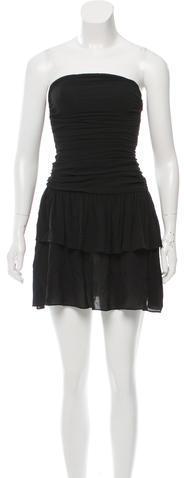 CelineCéline Silk Strapless Dress