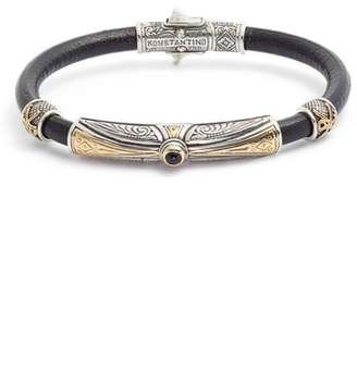 Konstantino Stavros Leather Bracelet with Onyx
