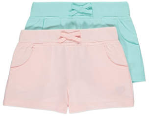 George Embroidered Jersey Shorts 2 Pack