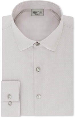 Kenneth Cole Reaction Men's Techni-Cole Slim-Fit Three-Way Stretch Performance Tan Dress Shirt