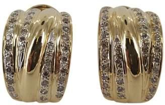 14K Yellow Gold & 1.0ct. Diamond Dome Earrings