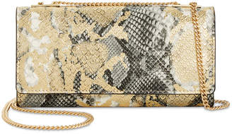 INC International Concepts I.N.C. Glam Metallic Python-Embossed Crossbody Wallet, Created for Macy's