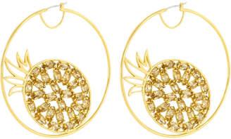 Henri Bendel Pineapple Hoop Earring