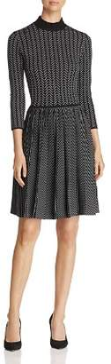 Emporio Armani Patterned Fit & Flare Dress