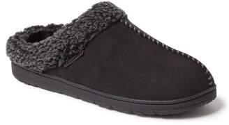 Dearfoams Men's Whipstitch Seam Microsuede Clog Slippers