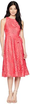 Tahari ASL Petite Sleeveless Chemical Lace Fit and Flare Midi Women's Dress